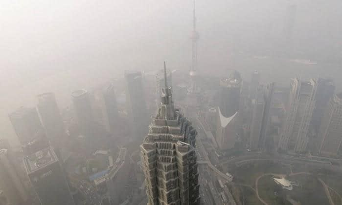 Névoa de poluição registrada em Pequim -  Fonte: Ali Song/Reuters